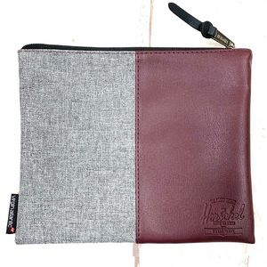 HERSCHEL  small bag  8x6 burgundy/gray